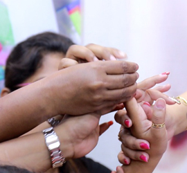 TRAINING ACADEMY SHOWING NAIL ART AT WORKSHOP